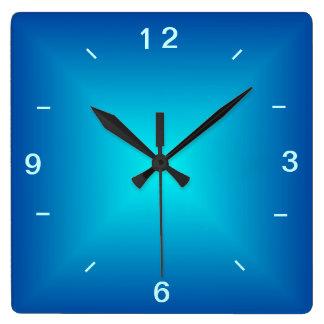 Tar tid på den upplyst designen för blåttAqua > Fyrkantig Klocka