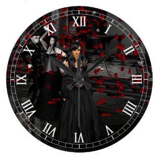 Tar tid på romerskt siffer- för gotiskt bollrum stor klocka