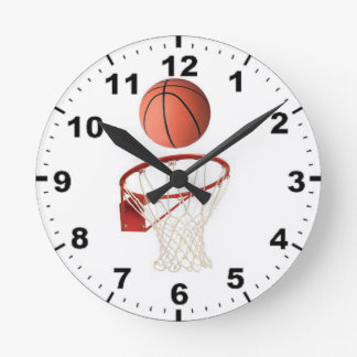 """Tar tid på väggen """"för den basketboll"""" designen rund klocka"""