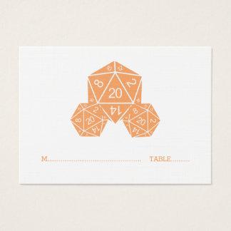 Tärning för orange som D20 gifta sig ställekortet Visitkort