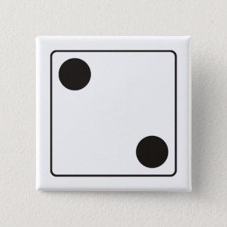 TÄRNINGEN numrerar av kärnor 2 + din backgr. Standard Kanpp Fyrkantig 5.1 Cm
