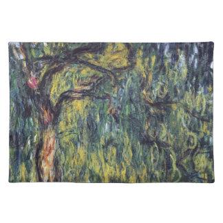 Tårpil vid Claude Monet, vintagekonst Bordstablett