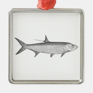 Tarponlogotyp (fodra konst), julgransprydnad metall