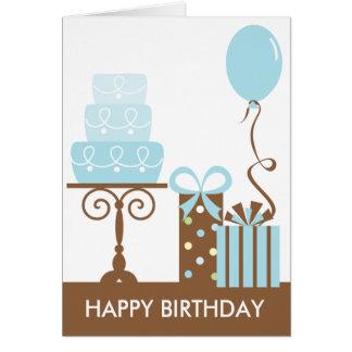 Tårta- och presenterfödelsedagkort hälsningskort