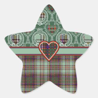 Tartan för kilt för Andison klanpläd skotsk Stjärnformat Klistermärke