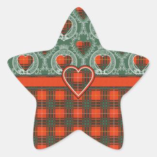 Tartan för kilt för Carlisle klanpläd skotsk Stjärnformat Klistermärke