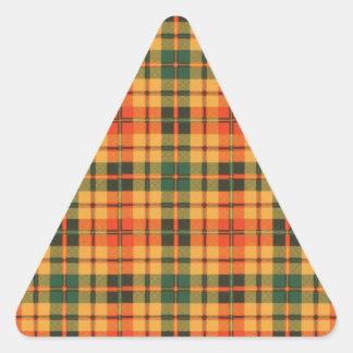 Tartan för kilt för Clowe klanpläd skotsk Triangelformat Klistermärke
