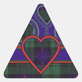 Tartan för kilt för Crozierklanpläd skotsk Triangelformat Klistermärke