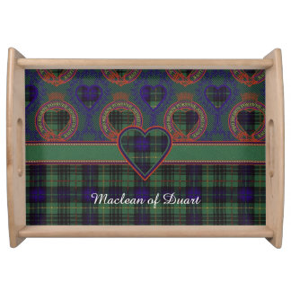 Tartan för kilt för Dennison klanpläd skotsk Serveringsbricka