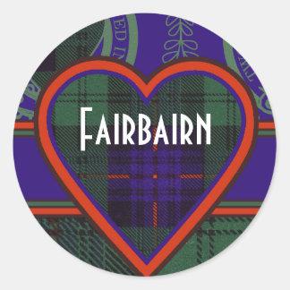 Tartan för kilt för Fairbairn klanpläd skotsk Runt Klistermärke