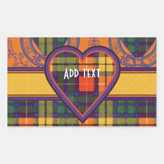 Tartan för kilt för Lennie klanpläd skotsk Rektangulärt Klistermärke