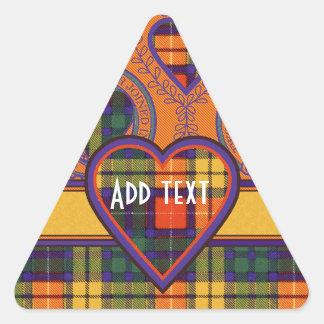 Tartan för kilt för Lennie klanpläd skotsk Triangelformat Klistermärke