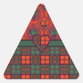 Tartan för kilt för leraklanpläd skotsk triangelformat klistermärke