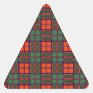 Tartan för kilt för Levack klanpläd skotsk Triangelformat Klistermärke