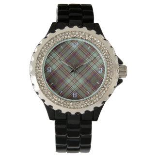 Tartan för kilt för MacAndrew klanpläd skotsk Armbandsur