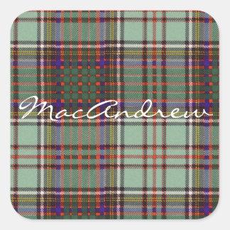 Tartan för kilt för MacAndrew klanpläd skotsk Fyrkantigt Klistermärke