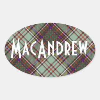 Tartan för kilt för MacAndrew klanpläd skotsk Ovalt Klistermärke