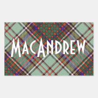Tartan för kilt för MacAndrew klanpläd skotsk Rektangulärt Klistermärke