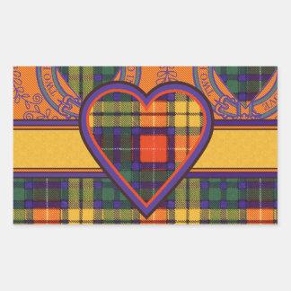 Tartan för kilt för MacCubie klanpläd skotsk Rektangulärt Klistermärke
