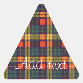 Tartan för kilt för MacCubie klanpläd skotsk Triangelformat Klistermärke