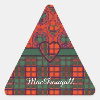 Tartan för kilt för MacDougall klanpläd skotsk Triangelformat Klistermärke