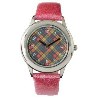 Tartan för kilt för MacLea klanpläd skotsk Armbandsur