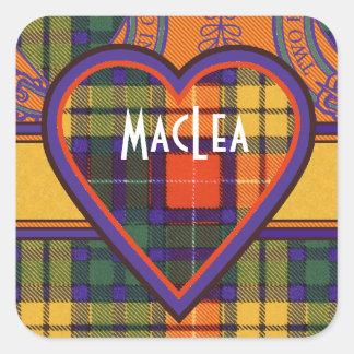 Tartan för kilt för MacLea klanpläd skotsk Fyrkantigt Klistermärke