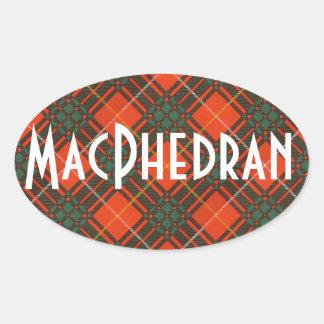 Tartan för kilt för MacPhedran klanpläd skotsk Ovalt Klistermärke