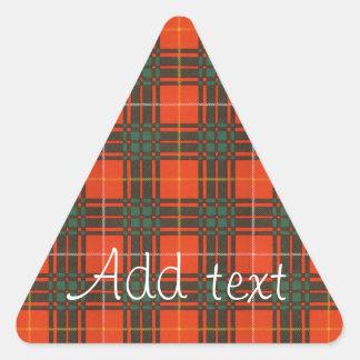 Tartan för kilt för MacPhedran klanpläd skotsk Triangelformat Klistermärke