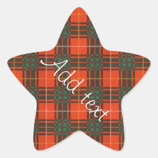 Tartan för kilt för pläd för Stenhouse familjklan Stjärnformat Klistermärke