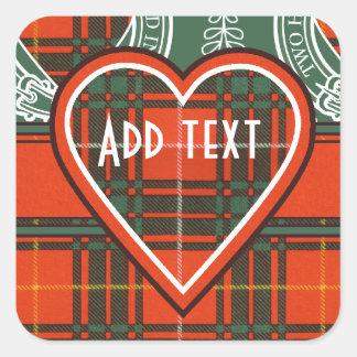 Tartan för kilt för Randolph klanpläd skotsk Fyrkantigt Klistermärke