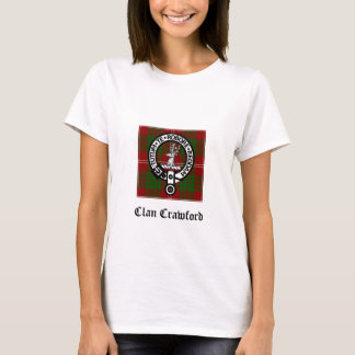 Tartan för klanCrawford vapensköld Tee Shirt