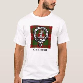 Tartan för klanCrawford vapensköld Tee Shirts