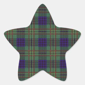 Tartan för skott för Kennedy klanpläd Stjärnformat Klistermärke