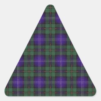 Tartan för skott för Urquhart klanpläd Triangelformat Klistermärke