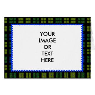 Tartanen färgar 1 mallen för MUSEUMZazzle gåvor Hälsnings Kort