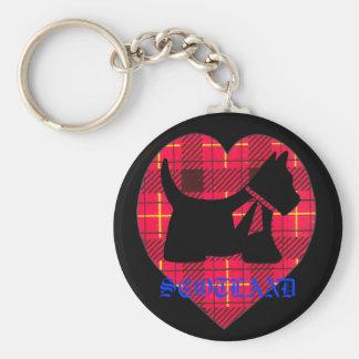 TartanWestie Skottland nyckelring