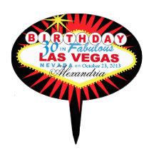 TÅRTATOPPERLas Vegas 30års födelsedag Tårtdekorationer