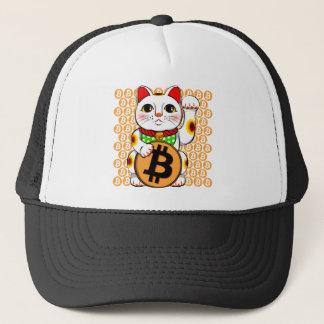 Tass för Maneki Neko lycklig kattBitcoin Truckerkeps