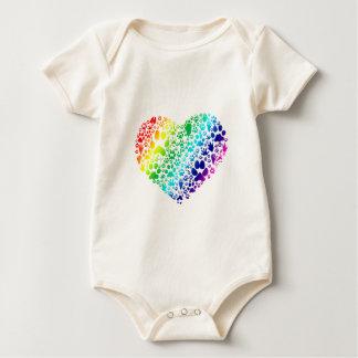 Tassar av hjärtan body för baby