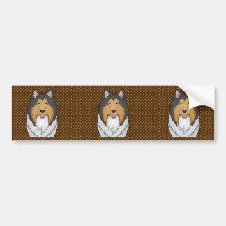 Tassar för Colliehundtecknad Bildekal