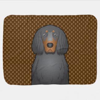 Tassar för tecknad för hund för Gordon Setter Bebisfilt