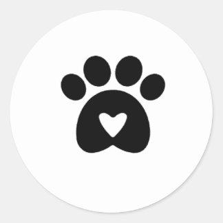 Tassen av kärlek, klistermärke! runt klistermärke