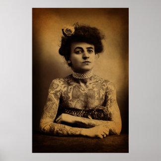 Tatuerad kvinna poster