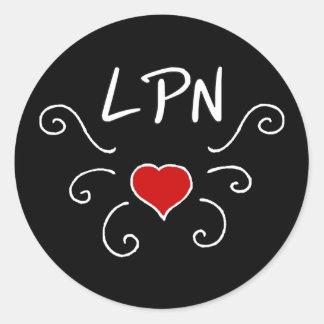 Tatuering för LPN-sjukvårdkärlek Runt Klistermärke