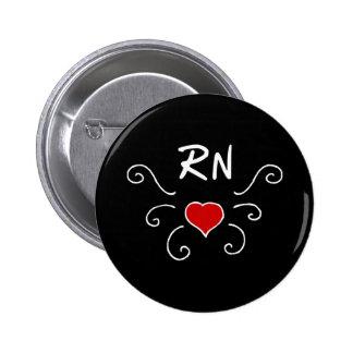 Tatuering för RN-sjuksköterskakärlek Standard Knapp Rund 5.7 Cm