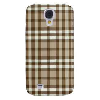 Taupe-/chokladpläd Pern Galaxy S4 Fodral