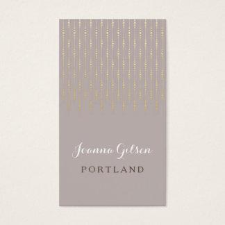 Taupe & guld för elegant ljus visitkort