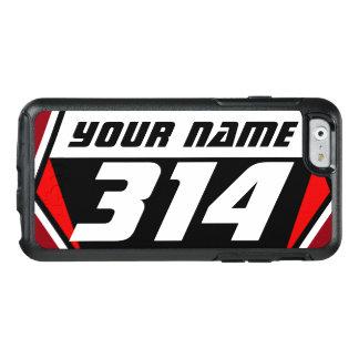 Tävla för smutscykelMX numrerar - rött - vit OtterBox iPhone 6/6s Skal