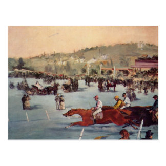 Tävla på Boisen de Boulogne - Edouard Manet Vykort
